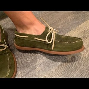 Men's Green Suede Sperry Topsider barely worn